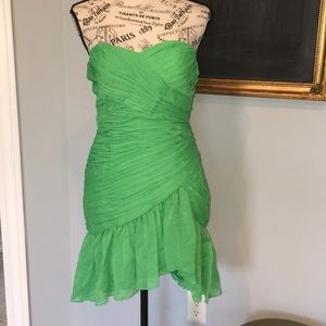 Max and Cleo island green strapless dress NWT